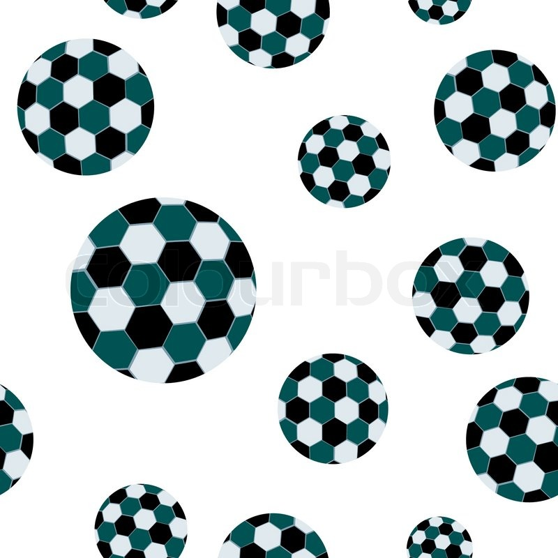800x800 Football Seamless Pattern, Abstract Texture Vector Art