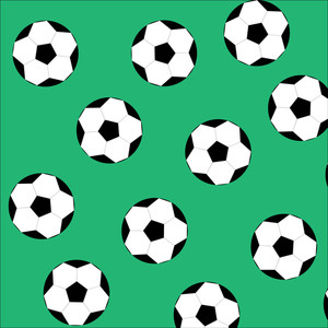 300x300 Seamless Background Design With Footballs Illustration Royalty