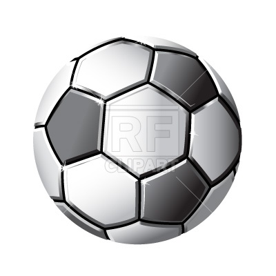 400x400 Soccer Ball Royalty Free Vector Clip Art Image