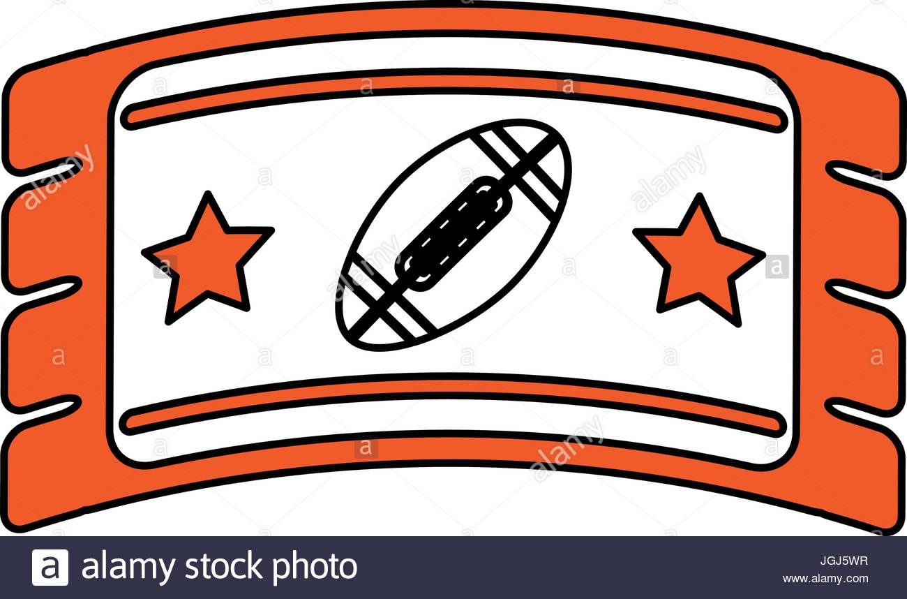 1300x858 Football Ticket Vector Illustration Stock Vector Art