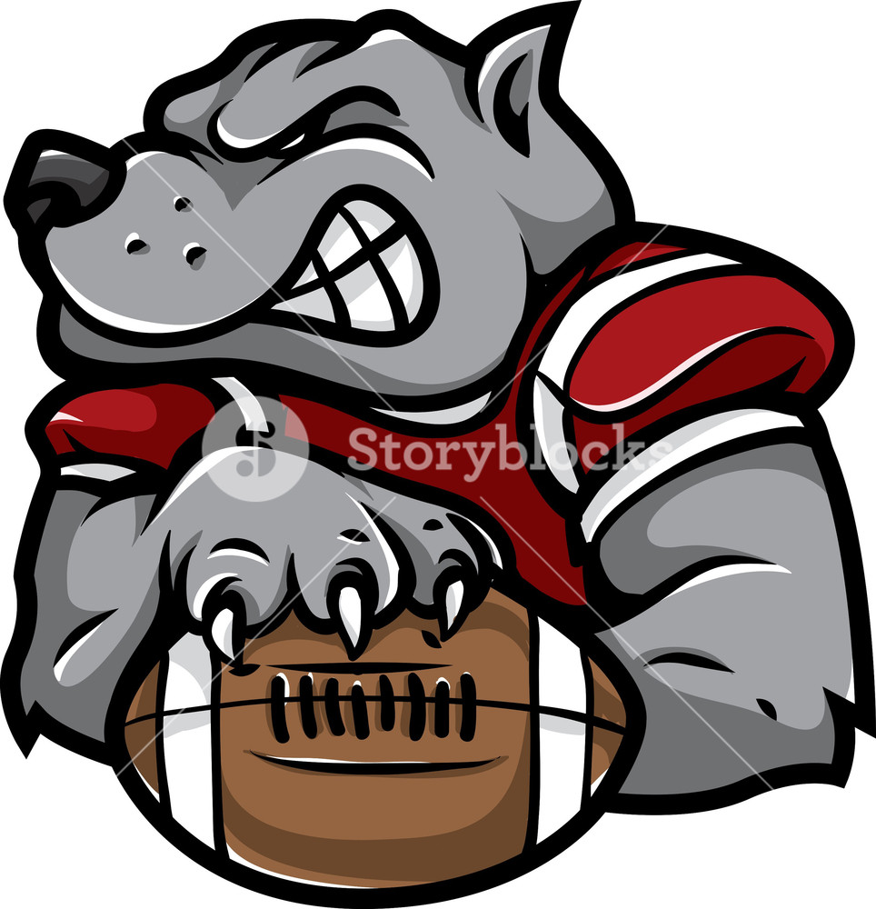 964x1000 American Football Vector Mascot Royalty Free Stock Image