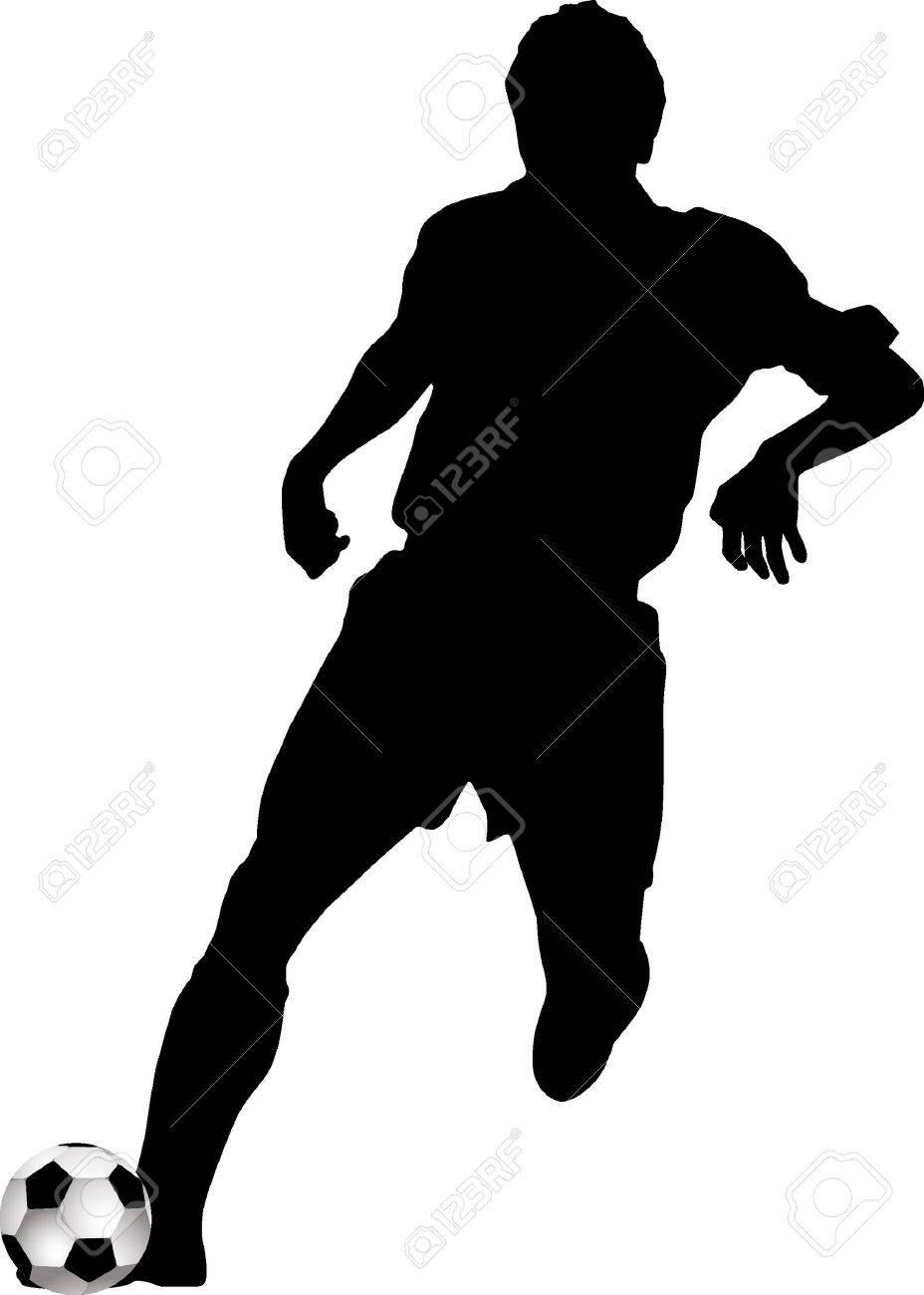 928x1300 Footballer Silhouette Black Football Player European Map