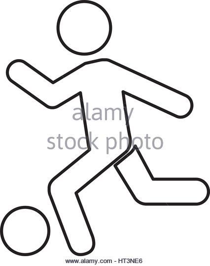 426x540 Footballer Silhouette Stock Photos Amp Footballer Silhouette Stock