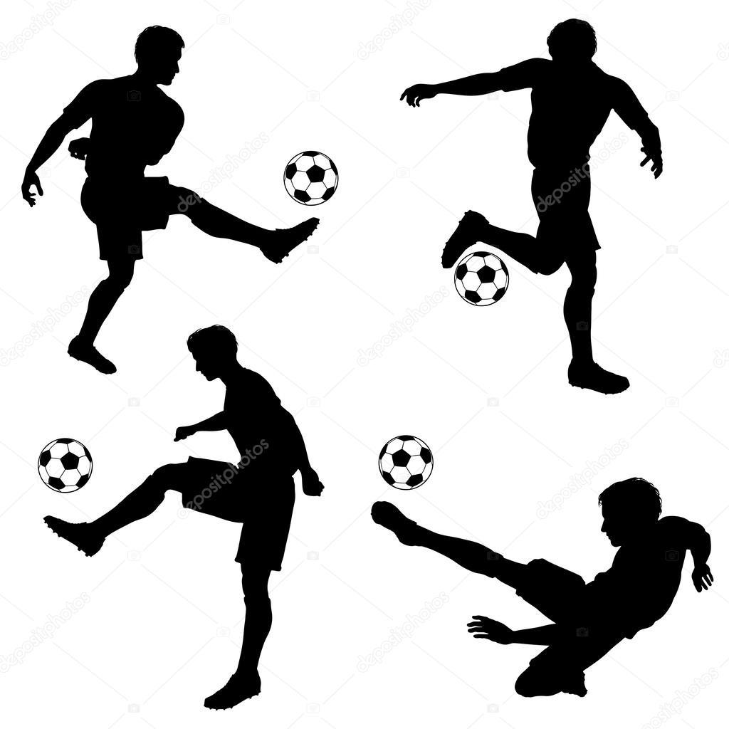 1024x1024 Footballer Silhouette Stock Vectors, Royalty Free Footballer