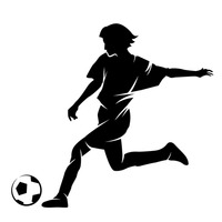 200x200 Free Brazil Footballer Vector Image