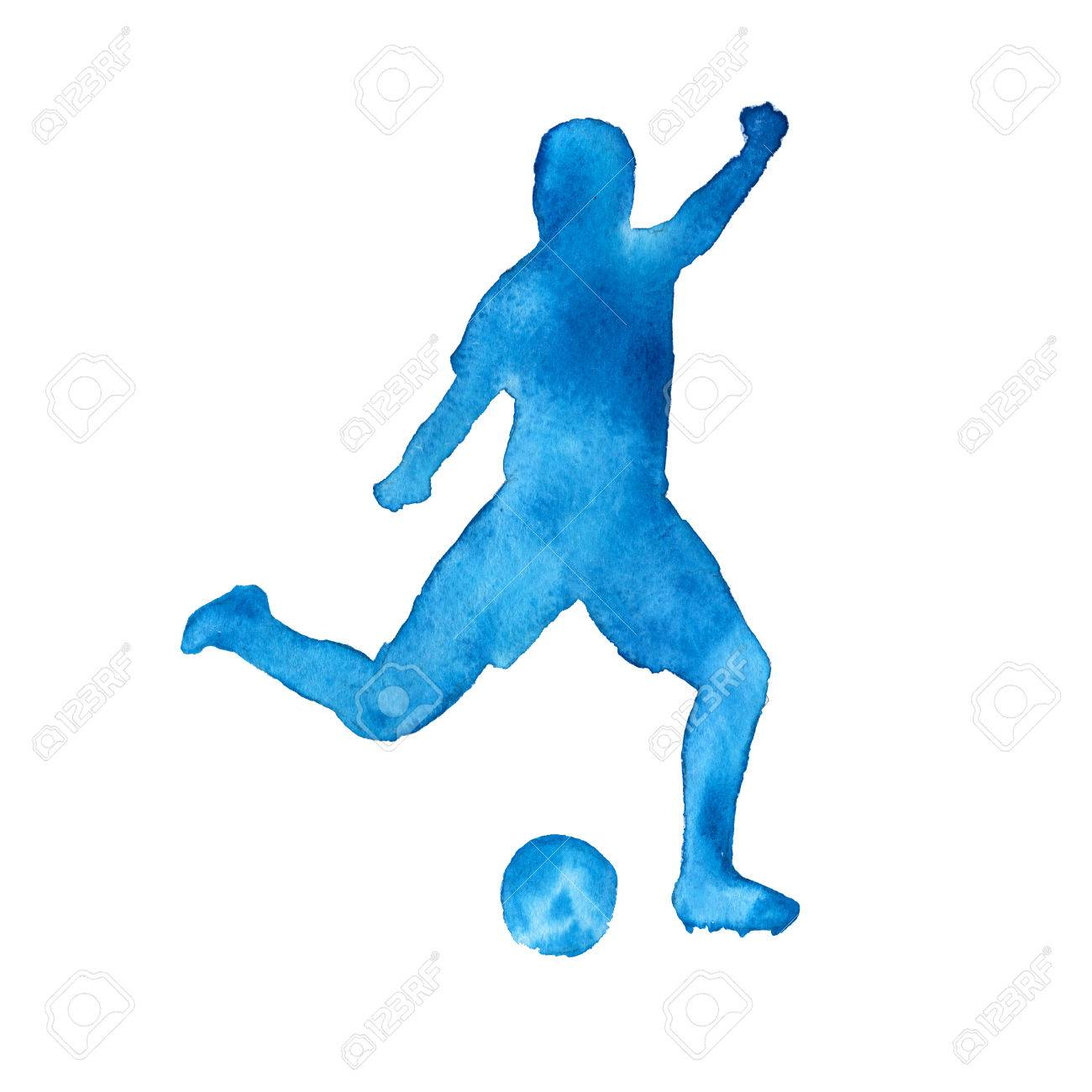 1300x1300 Silhouette Of A Man Playing Football. Footballer. Isolated