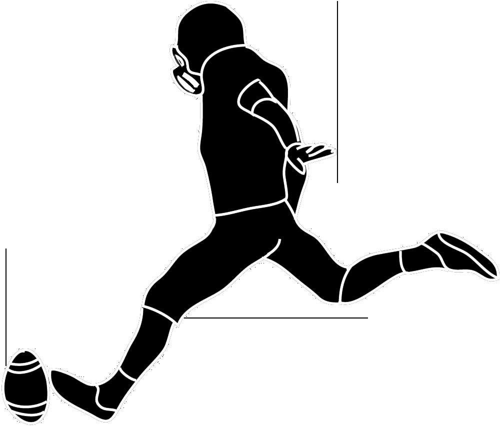 1000x852 Feet Clipart Footballer
