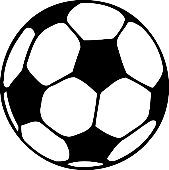 594x597 Black Football Clip Art