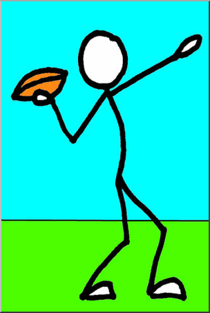 304x454 Clip Art Stick Guy Football Color I Abcteach