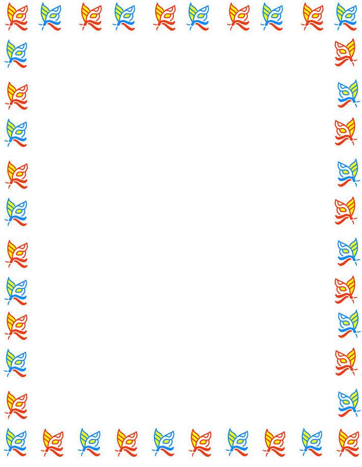 710x915 Free Butterfly Borders Clip Art Butterfly Background, Butterfly