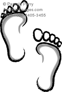 204x300 Art Illustration Of Human Footprints