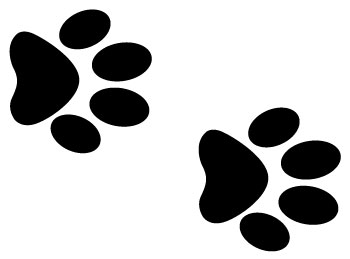 350x259 Dog Footprint Clipart