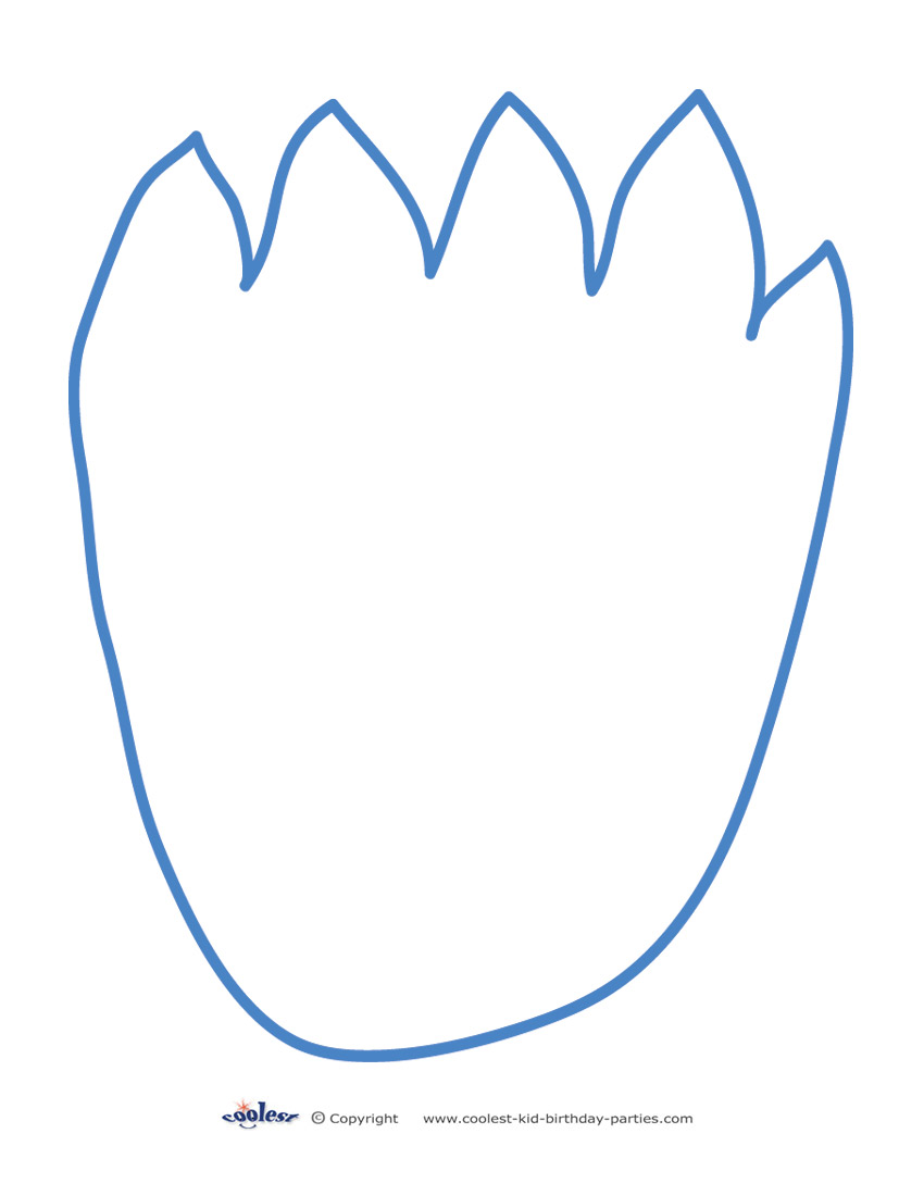 850x1100 Footprint Clipart Template