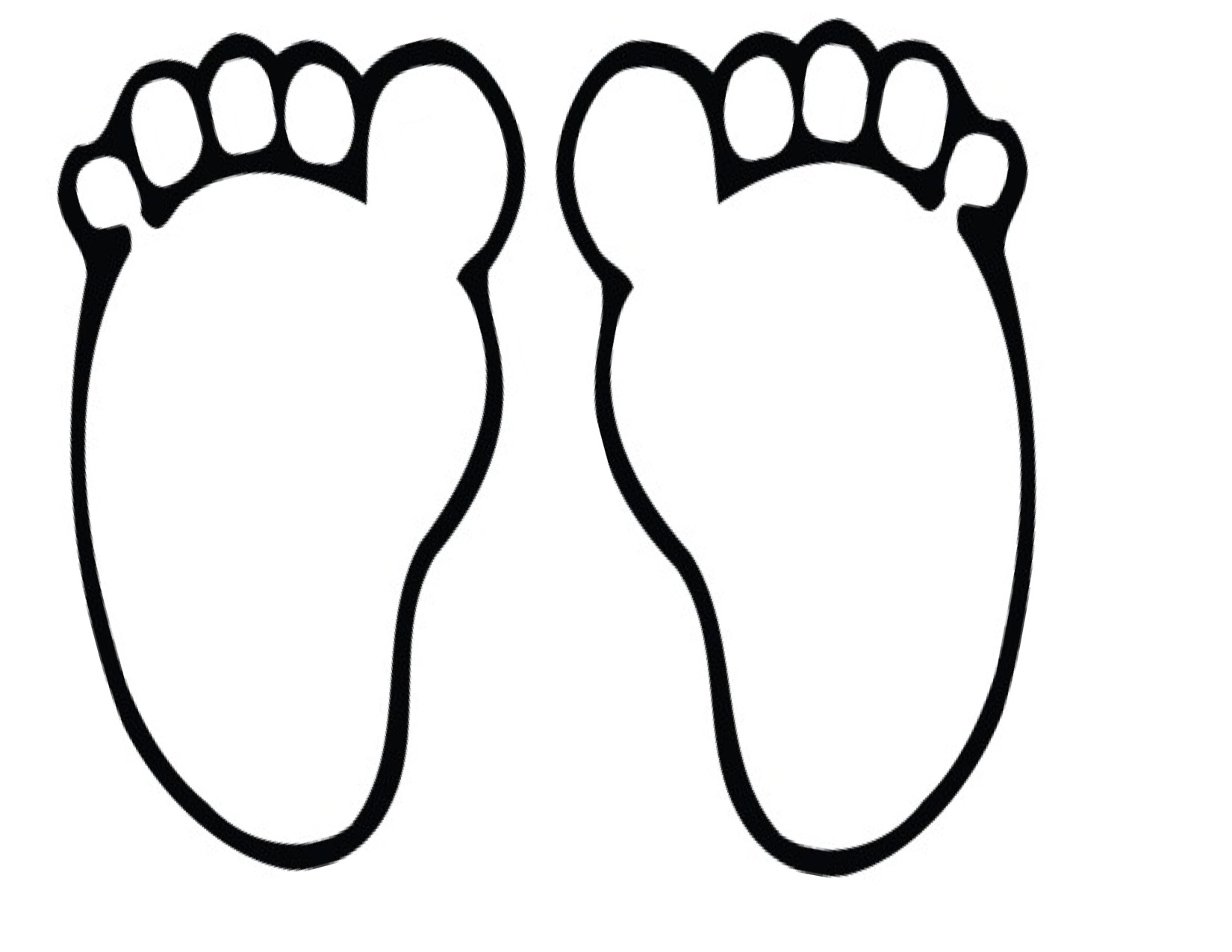 1650x1275 Big Foot Clipart Footprint Outline