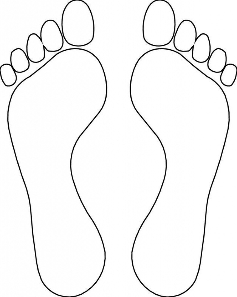 image relating to Footprint Printable named Footprint Template Clipart No cost obtain least difficult Footprint