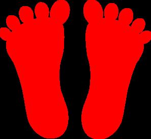 297x273 Red Footprints Clip Art