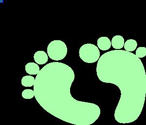 300x258 Green Baby Footprints Clipart