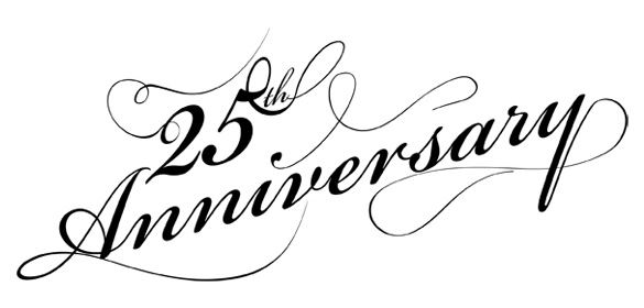 585x280 25th Anniversary Clip Art