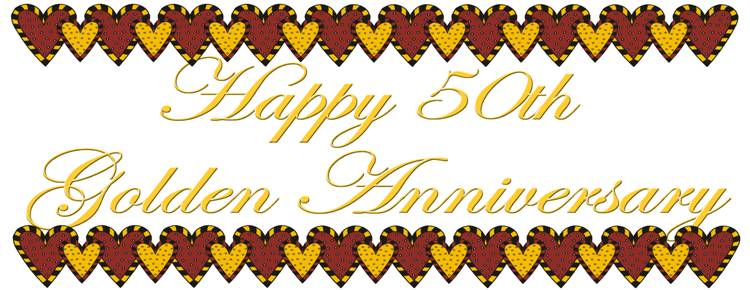 750x290 Image Of 50th Anniversary Clipart