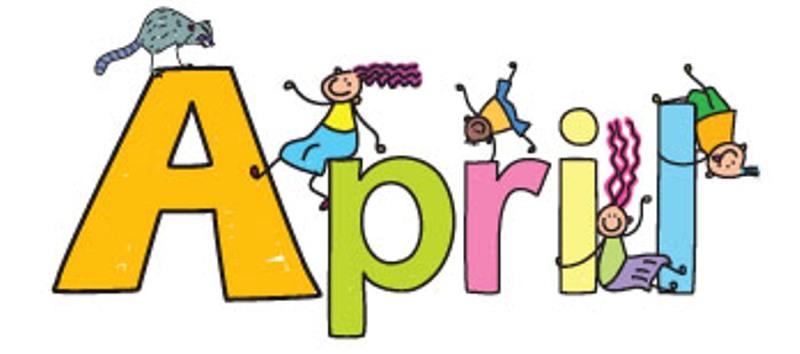 800x354 April Clip Art Free