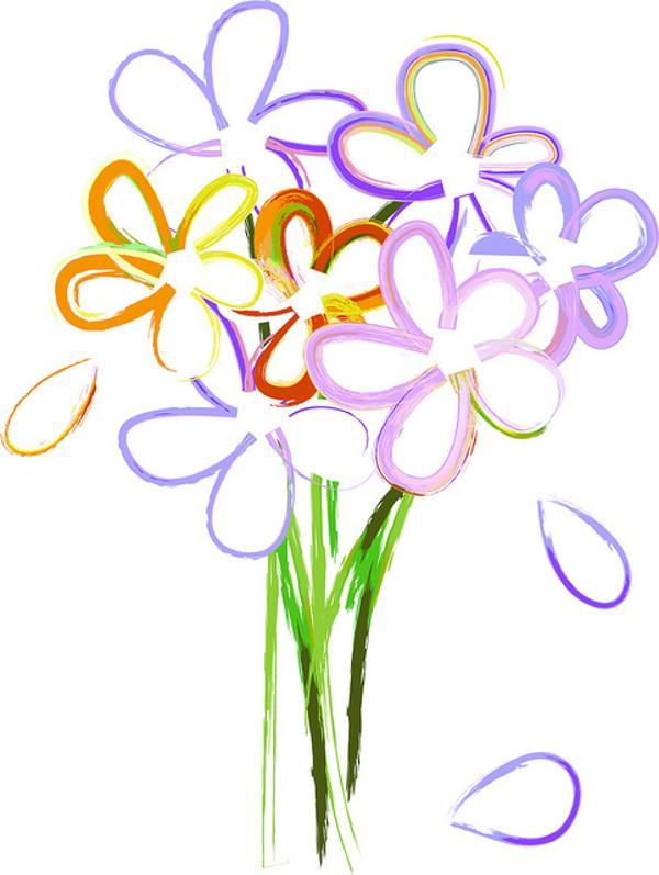 600x797 White Flower Clipart April
