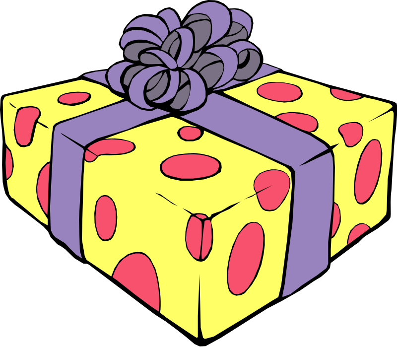 800x699 Birthday Present Clip Art Free Clipart Images