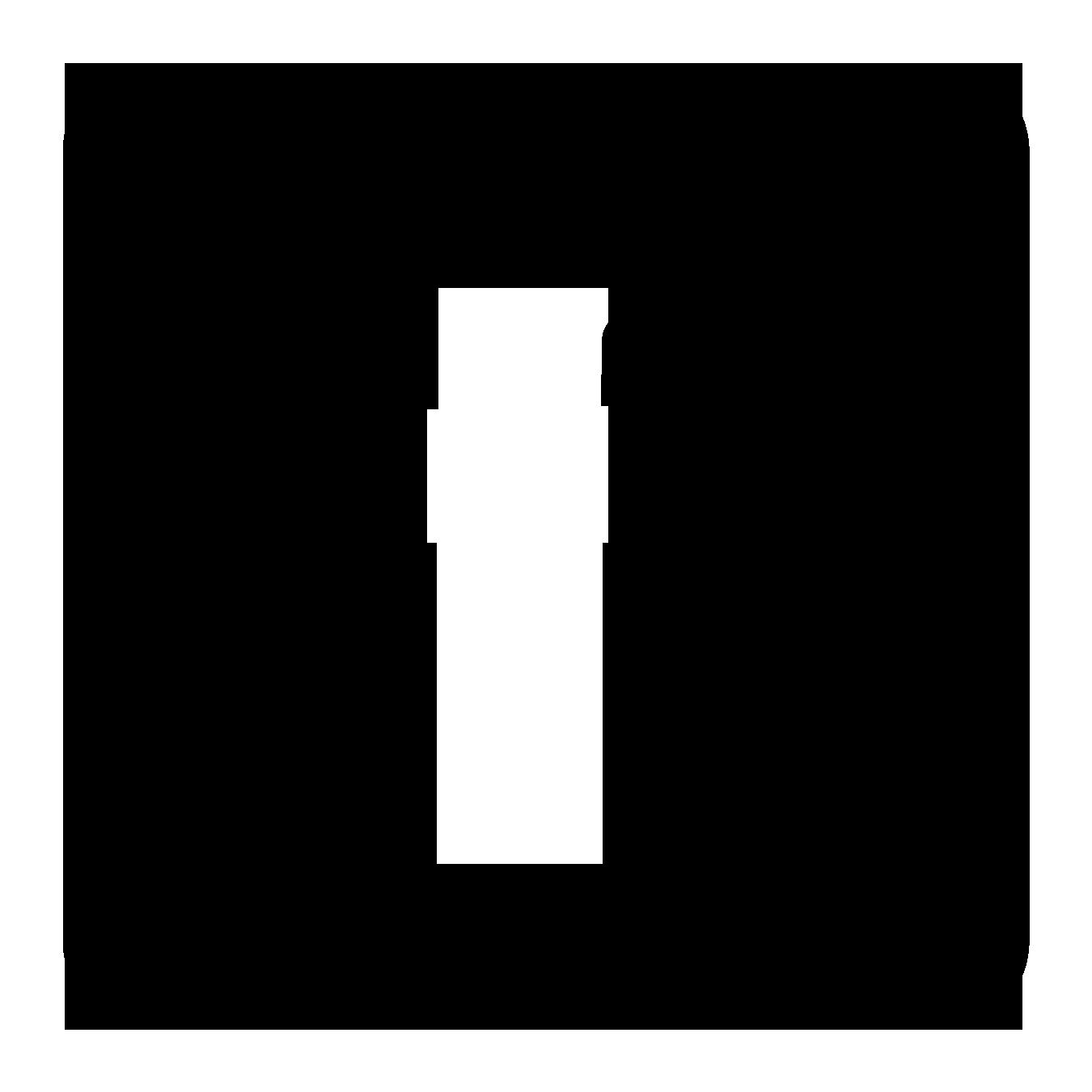 1350x1350 Black Facebook Icon Clipart