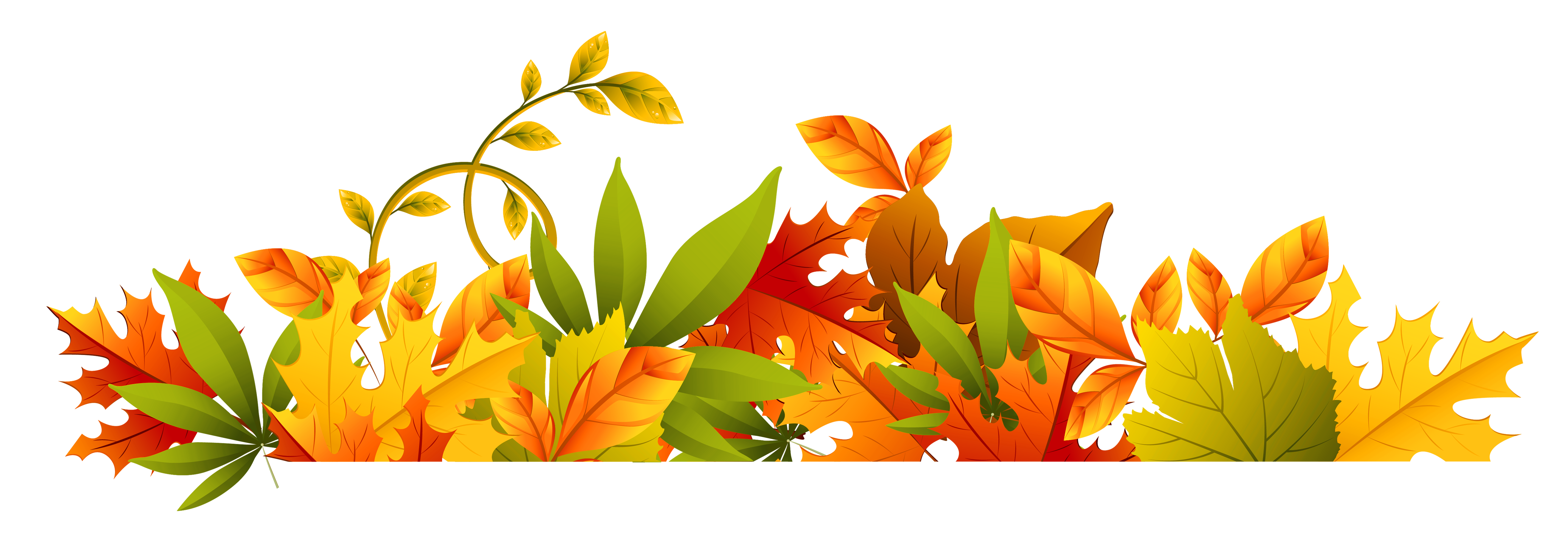 5264x1796 Fall Clipart Free