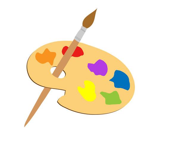 615x480 Artist Paint Palette Clipart