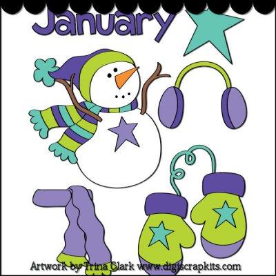 400x400 January Month Clip Art