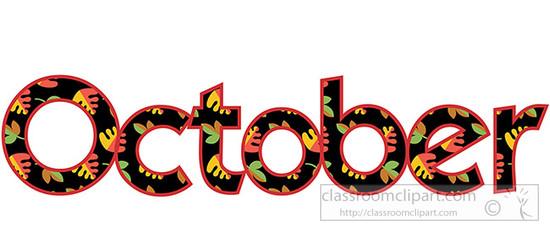 550x232 October Clip Art Free Clipart Image