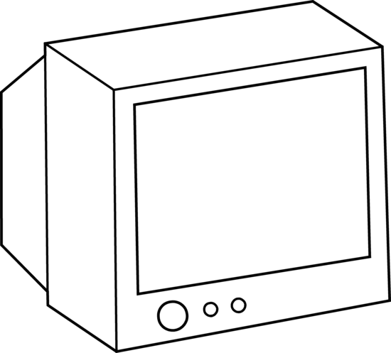 550x497 Simple Television Coloring Page
