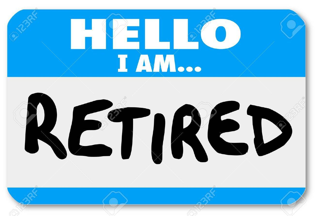 For Retirement Clipart