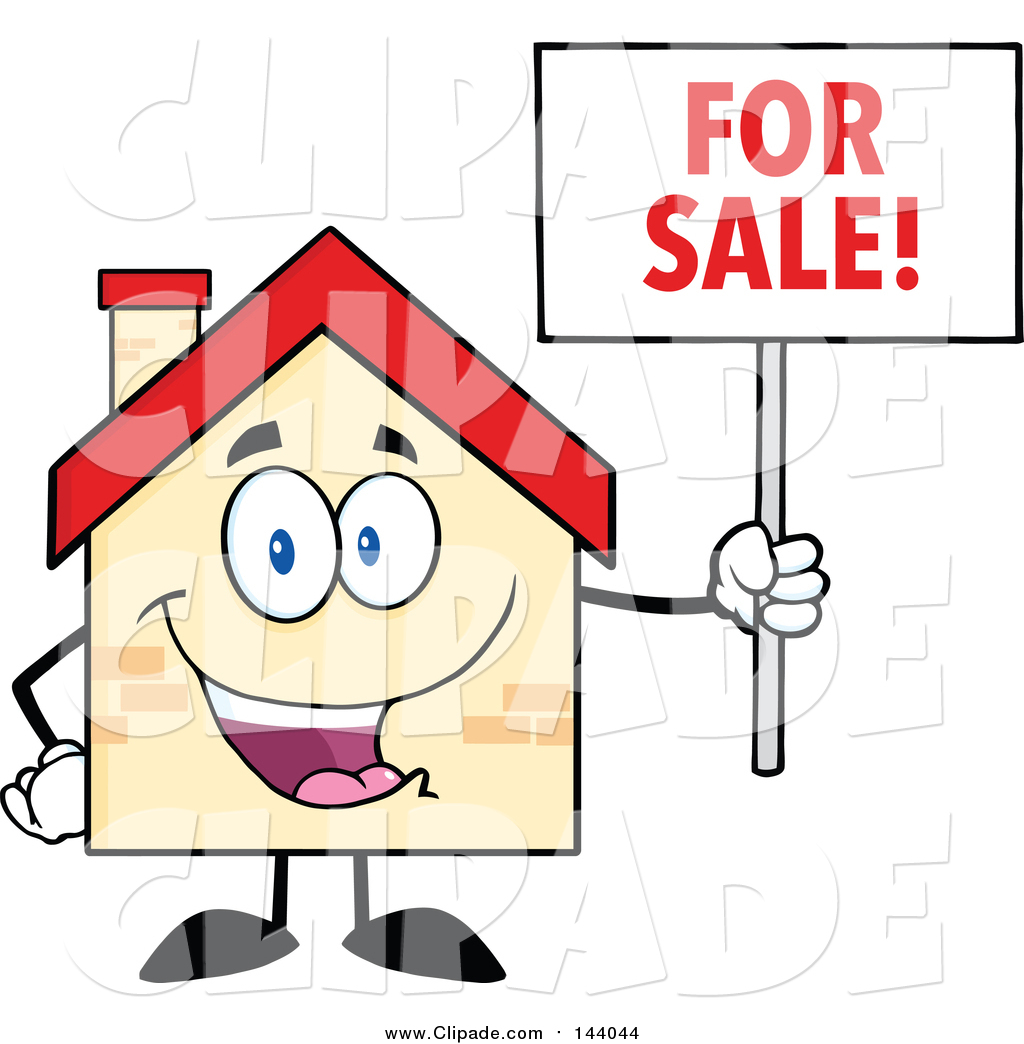 1024x1044 Clip Art Of A Happy Home Character Holding A For Sale Sign By Hit