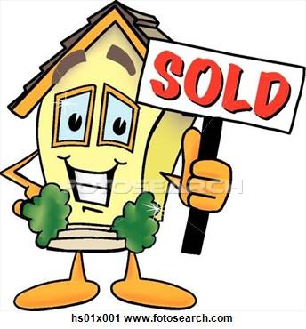 344x370 House Sale Clipart