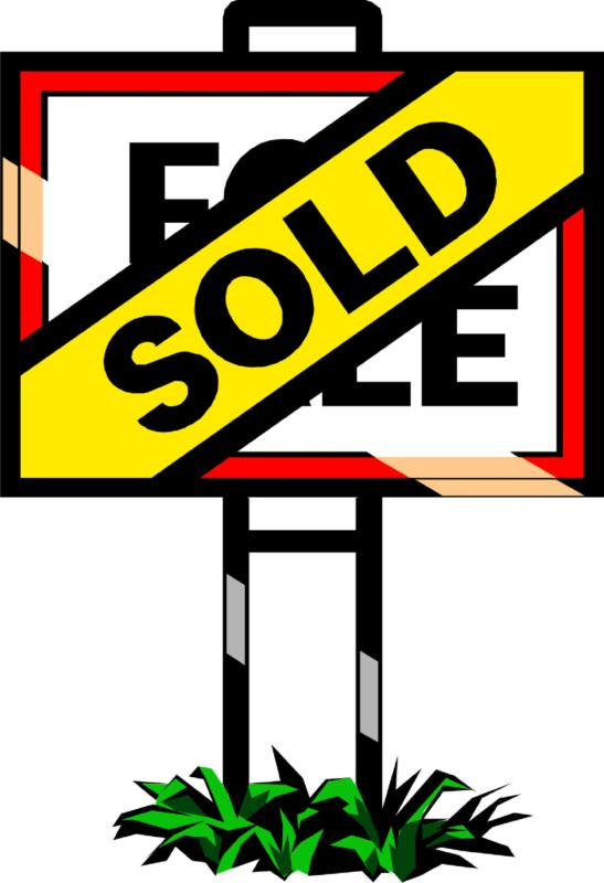 547x800 Sold Sign Clipart
