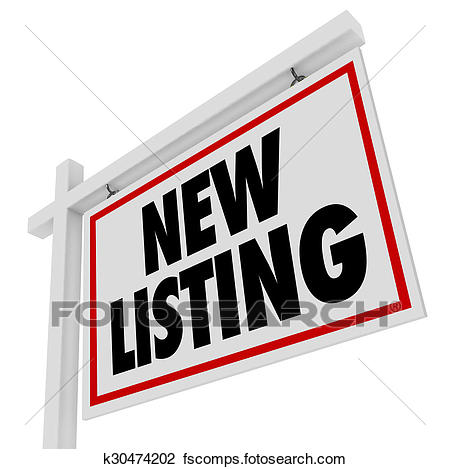 450x469 Clip Art Of New Listing Real Estate Home House For Sale Sign