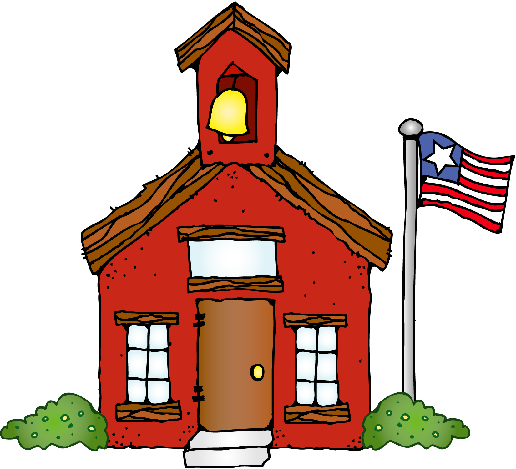 1650x1500 Free Schoolhouse Clipart Image