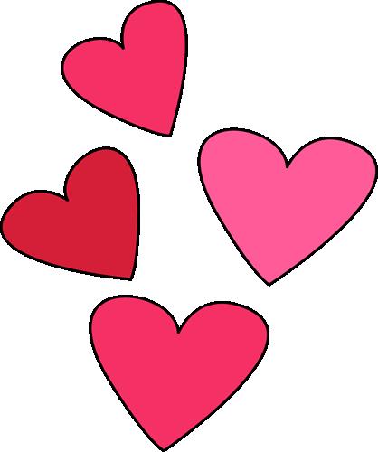 418x500 Valentine's Day Hearts Clip Art