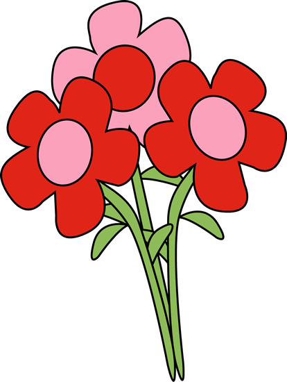 414x550 Valentines Day Valentine'Day Flowers Clip Art Image