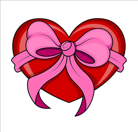 577x550 Download Free Valentine's Day Gift Heart Clip Art Vector Illustration