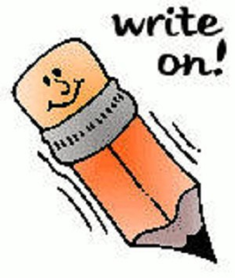 800x944 Writing Clip Art