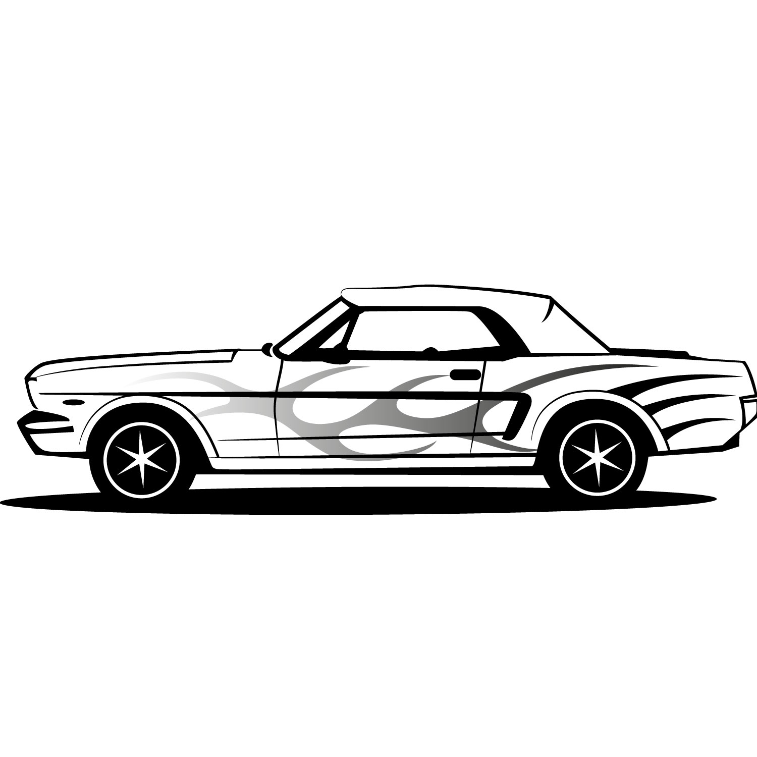 1500x1500 Ford Clipart Classic Mustang Car