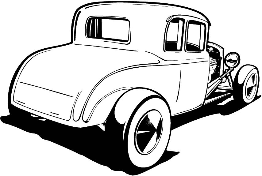 854x575 Free Hot Rod Clipart Image