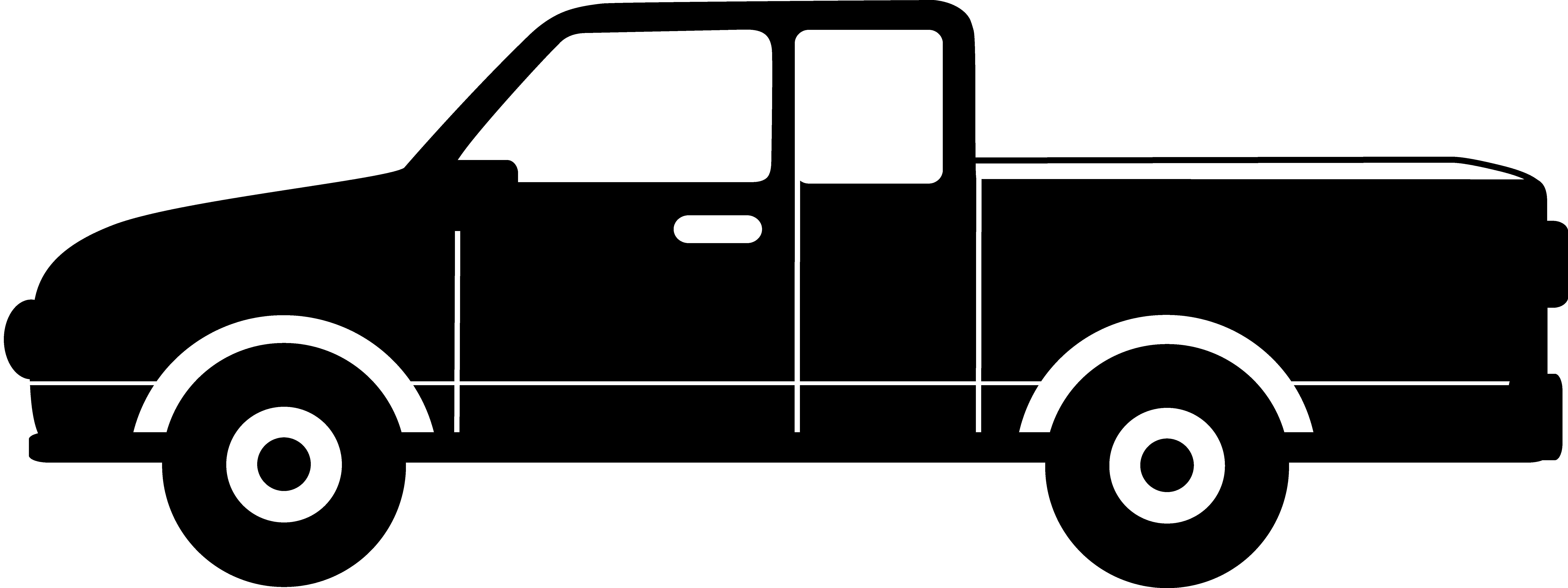 8572x3212 Profile Clipart Pickup Truck