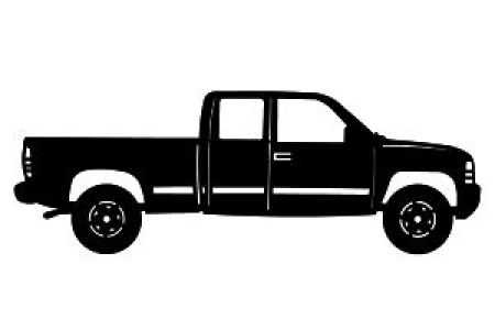 450x300 Pickup Truck Silhouette Clip On Pickup Truck Clipart