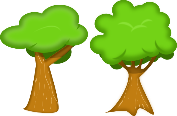 600x396 Forest clipart two tree
