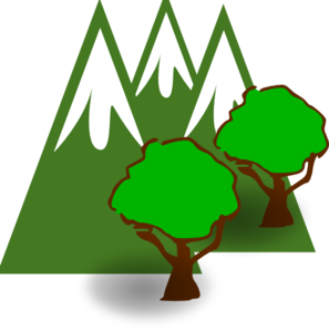 297x299 Mountain Forest Clip Art