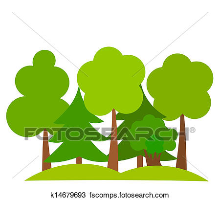450x409 Clipart of Forest k14679693