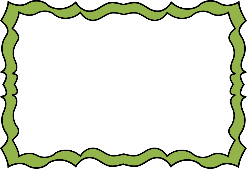 964x662 Forest Green Squiggle Frame
